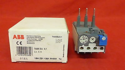 ABB TA25-DU-3.1, Overload Relay NEW IN BOX 2,2-3,1A (3B2)