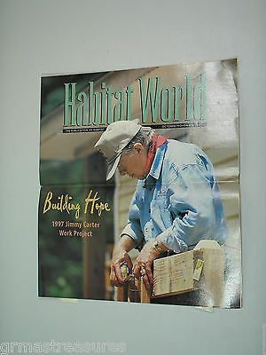 Habitat for Humanity World Jimmy Carter 1997 Work Project Oct/Nov 1997 Good Cond