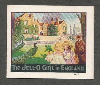 1920 s Jell-O Girl In England tri-fold recipe card No. 2.  No creases etc.