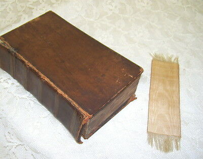 Antique Latin Bible Nonum Testamentiuum 1707  MDCCIII with fold-out map