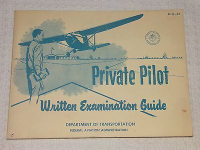 Vintage Private Pilot Written Examination Guide 1967