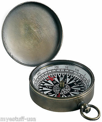 Small Bronze Pocket Compass - Authentic Models - CO002B