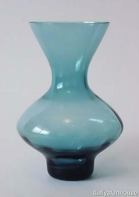 Kosta Boda Bo Borgstrom Blue Thin Walled Glass Vase Exl Cond