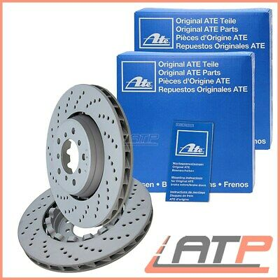 2X Ate Brake Disc Vented Ventilated Drilled Ø325 Front Bmw 3 Series E46 M3 3.2
