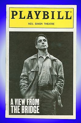 Playbill + A View From the Bridge + Tony Danza, Caren Browning, Robert LuPone