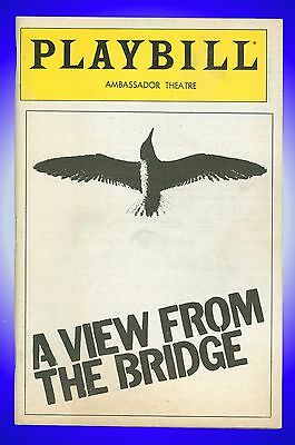 Playbill + A View From the Bridge + Tony Lo Bianco, Rose Gregorio, Robert Prosky