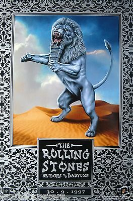 "ROLLING STONES ""BRIDGES TO BABYLON 30-9-1997"" U.S. PROMO POSTER- Small Version"