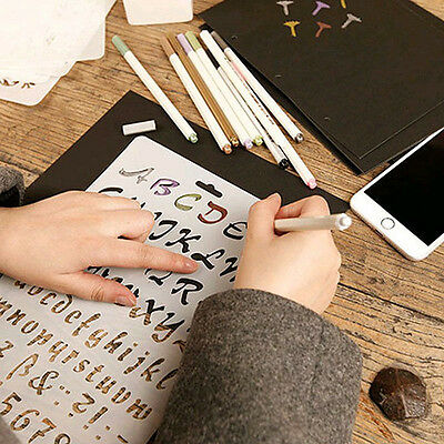 New Painting Scrapbooking Paper Cards Letter Alphabet Number Layering Stencils