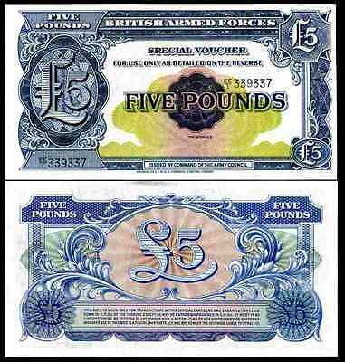 British Armed Forces. Five Pounds, (1958), series EE/1. AU-UNC.