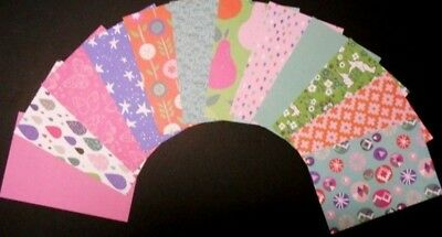 "*DAYDREAM* Colourful Scrapbooking/Cardmaking Papers x 12  - 15cm x10cm (6"" x 4"")"