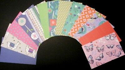 "*DAYDREAM* Colourful Scrapbooking/Cardmaking Papers x 13  - 15cm x10cm (6"" x 4"")"