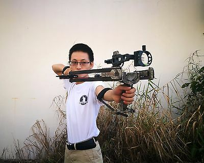 40lbs Compound Bow Adjustable Archery Camo W Spirit Bubble Level Outdoor Hunting