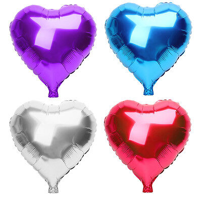 "10Pcs 18"" Red Heart Love Star Foil Helium Balloons Valentines Wedding Birthday"