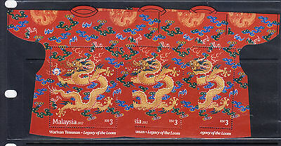 MALAYSIA 2012 LUNAR YEAR DRAGON RM 3 ONLY X 3 COPIES MNH. BUY-IT-NOW at US$5.50