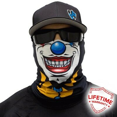 MOTORCYCLE FACE MASK - THE TWISTED CLOWN - (Moto, Hunting, Fishing, Paintball)