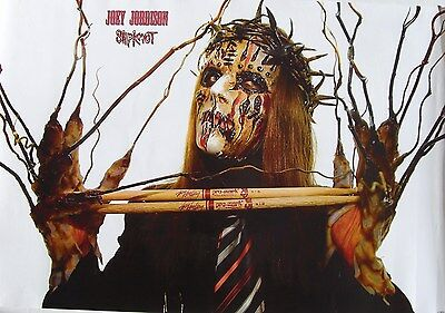 """Slipknot """"joey Jordison Holding Drum Sticks With Branch Hands"""" Poster From Asia"""