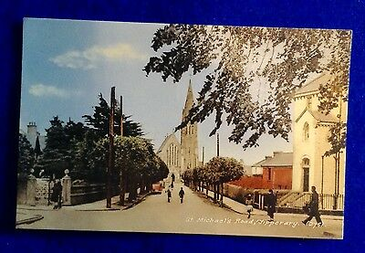 Tipperary town, St Michael's road,  Ireland. 1950's real photograph postcard.