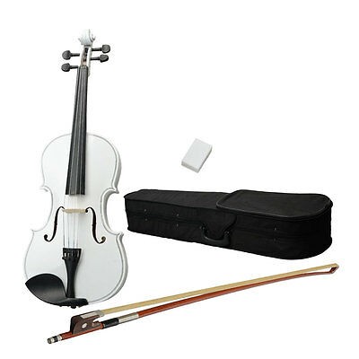 New 16 Inch High Quality White Acoustic Viola with Case Rosin Bow