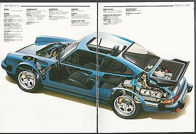 1984 PORSCHE 911 CARRERA COUPE  2-page Cutaway Illustration