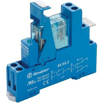 Finder 49.52.8.230.5060 Interface Relay Module 230VAC DPDT + Varistor and LED