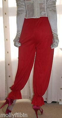 Vintage inspired Victorian~Edwardian style red bloomers~pettipants~culottes
