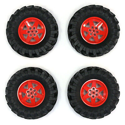 Lego Technic - Large Wheels Tyres Tires - Set of 4 - Big Massive 107x44mm - NEW