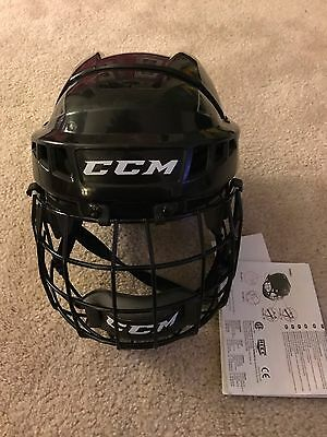 CCM 04S Ice Roller Hockey Helmet Small Black with cage New with Tags