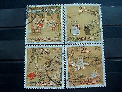 Macau Stamp, 1985 Paintings by Cheng Chi Yun Set Used