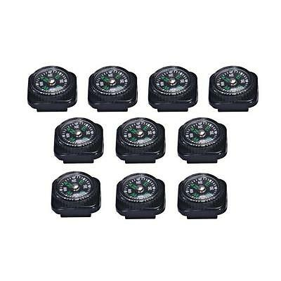 10PC Mini Compass For Paracord Bracelet Outdoor Emergency Camping Hiking Tool UK