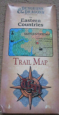 Tsr D&d Tm2 The Eastern Countries Trail Map Huge + Wrap 9404 Vgc Dungeon Dragon