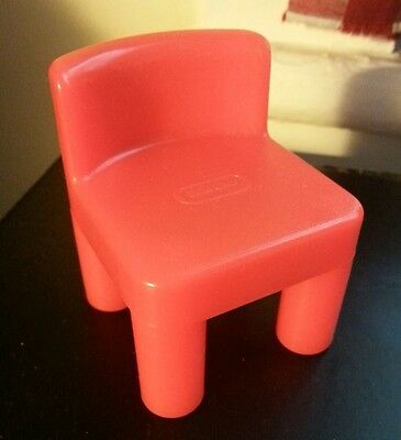 Little tikes place vintage red chair dollhouse-size