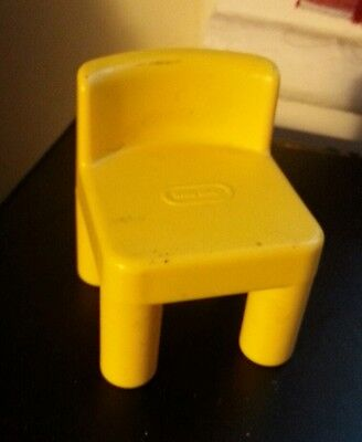 Little tikes place vintage yellow chair dollhouse-size