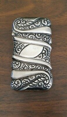 Vintage Sterling Silver Match Safe Vesta Case Art Nouveau
