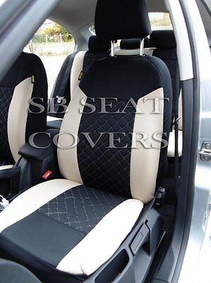 i - TO FIT A FORD KA CAR, SEAT COVERS, BEIGE/BLACK DIAMOND, FULL SET
