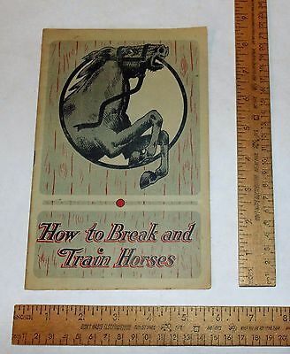 HOW To BREAK And TRAIN HORSES - by JESSE BEERY - pb BOOKLET