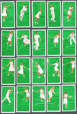 1936 John Player & Sons Tennis Tobacco Cards Complete Set of 50