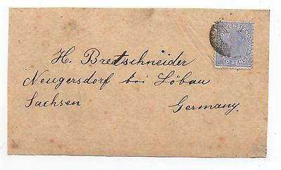 1879 QUEENSLAND QV Cover Front To NEUGERSDORF BEI LÖBAU GERMANY SG138
