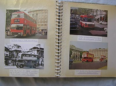 One Album Of 79 Postcards - Buses & Tube Trains - London Area