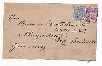 1890 NEW SOUTH WALES QV Cover Front ROUS MILL 1567 Cancel - NEUGERSDORF GERMANY