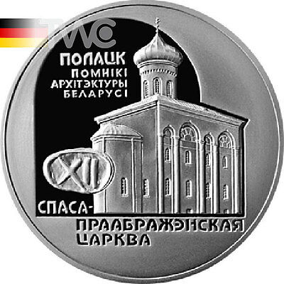 Belarus 2003 20rub The Church the Savior and Transfiguration Proof Silver Coin