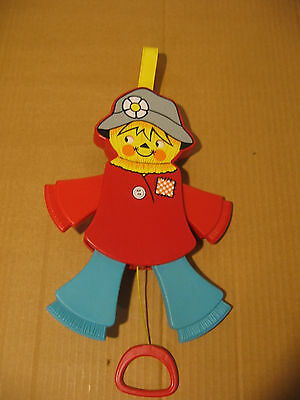VTG FISHER PRICE SMILING SCARECROW BABY CRIB PULL TOY 1978 Great Condition # 423