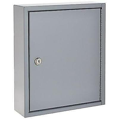 S.P. Richards Company Secure Key Cabinet, 10 x 3 x 12 Inches, 60 Keys, Gray