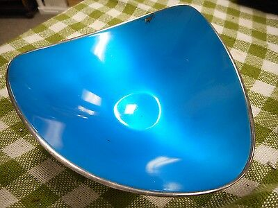 Vintage Mid Century Reed & Barton Silver Plate Blue Enamel Bowl Candy Dish #251