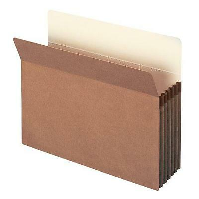 """Smead File Pocket, Straight-Cut Tab, 5-1/4"""" Expansion, Letter Size, Redrope, New"""
