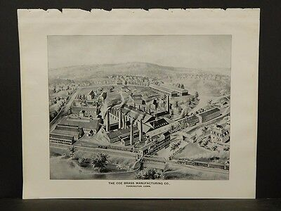 Connecticut, Map, 1893, Torrington, The Coe Brass Manufacturing CO Print, L5#78