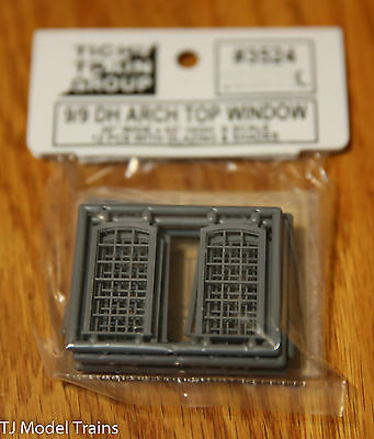 Tichy Train Group #3524 (S Scale) 9/9 DH Arch Top Windows (See Below)