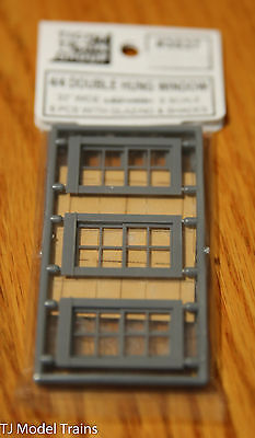 Tichy Train Group #3537 (S Scale) 4/4 Double Hung Windows (See Below for Size)