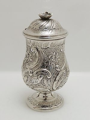 A Superb Quality Antique 18Th Century Solid Silver Mustard Pot French?