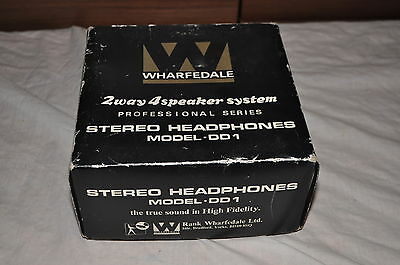 Vintage Wharfedale Dd1 Headphones Boxed With Manual Vgc