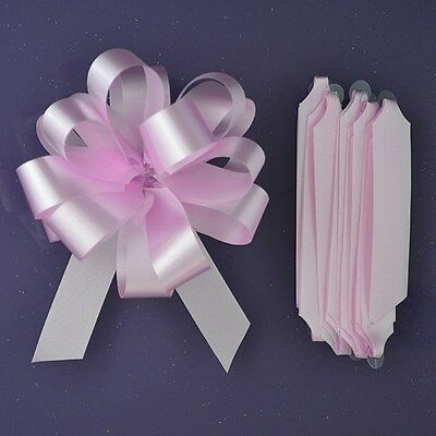 Purple Cupcakes Quick Pull Bow / Cupcake Bouquet Bow - Pale Pink